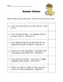 Number Riddles for 2-digit numbers Base-10