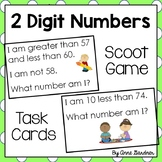 Number Riddle Task Cards for Scoot Games, Partner Work and Individual Tasks