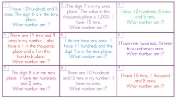 Number Riddles to the Thousands