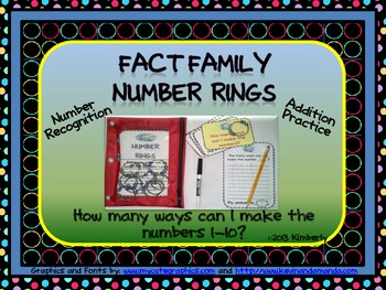 Fact Family Number Rings (Addition Facts)