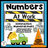 Number Tracing Posters and Ten Frames: Road and Transporta
