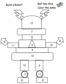 Number Robot Dice Game