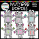 Number Robots Clipart