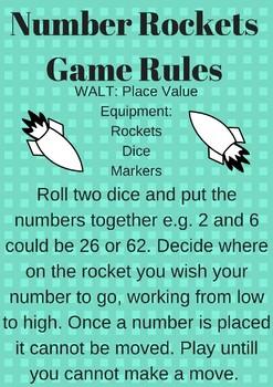 Number Rocket Place Value Game