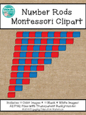 Number Rods Montessori Clipart