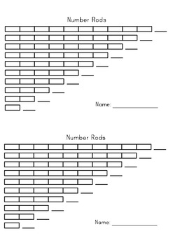 Number Rods - Montessori Printable