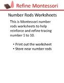 Number Rods Worksheet