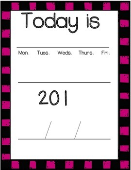 Number Rotation Schedule- Number Cards