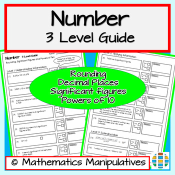 Number Rounding Powers of 10 and Standard Form 3 Level Guide