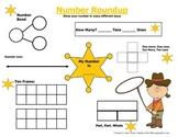 Number Roundup Mat: Representing Numbers