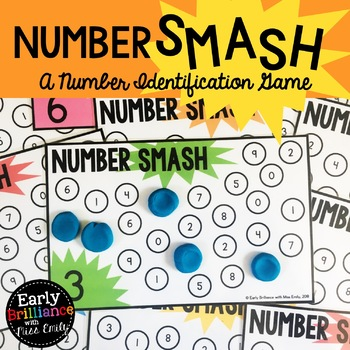 Number SMASH! A Number Identification Game with Play Dough Mats