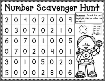 Number Scavenger Hunt