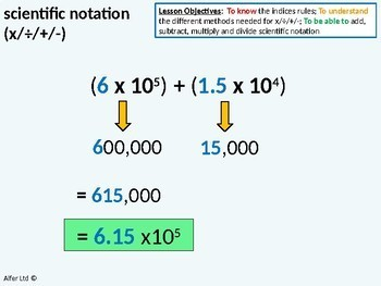Number: Scientific Notation (+,/,+,-) All Operations