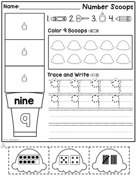 Number Scoops (1-20) Bundle