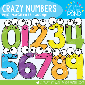 Number Scribbles Clipart Set