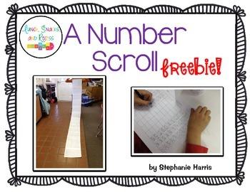 Number Scroll - Freebie!