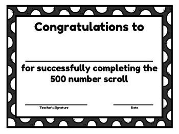 Number Scroll BUNDLE PACK