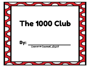 Number Scroll - The 1000 Club