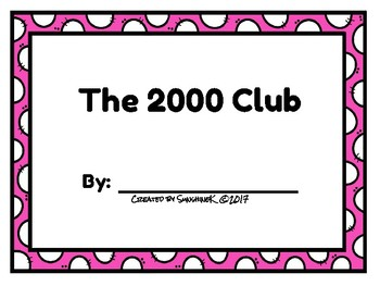 Number Scroll - The 2000 Club