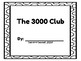 Number Scroll - The 3000 Club