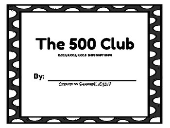 Number Scroll - The 500 Club