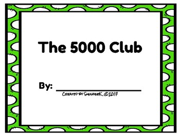 Number Scroll - The 5000 Club