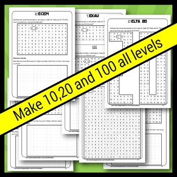 Make 10 20 and 100 Number Puzzles