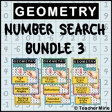 Number Search BUNDLE 3 - Geometry