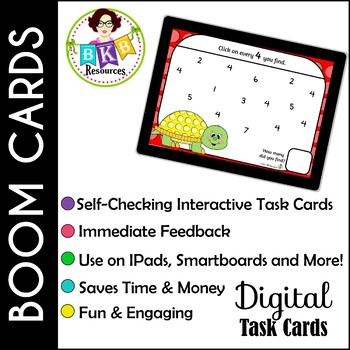Number Search ● Digital Task Cards ● Boom Cards ● Numbers 1-20