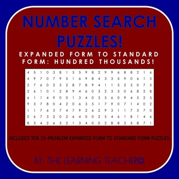 Number Search (Expanded Form - 100,000's)