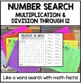 Number Search Multiplication and Division Through 12