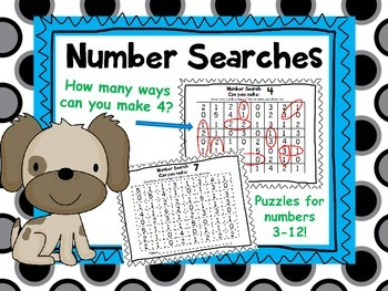 Number Search Puzzles