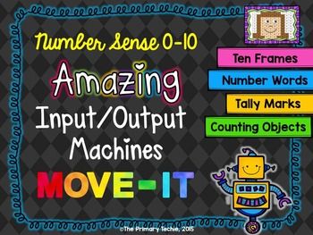 Number Sense 0-10 Input/Output Machines MOVE IT!