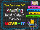 Number Sense 0-10 Input/Output Machines MOVE IT!
