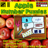 Apple Number Puzzles: Number Tracing - Fine Motor Skills - Counting Numbers