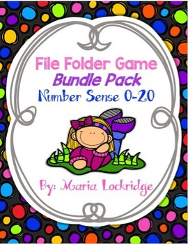 Number Sense (0-20) File Folder Games Bundle Pack