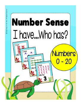Number Sense 0 - 20 I Have...Who Has? Game