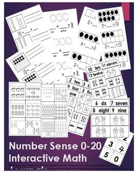 Number Sense 0-20 Interactive Math Journals