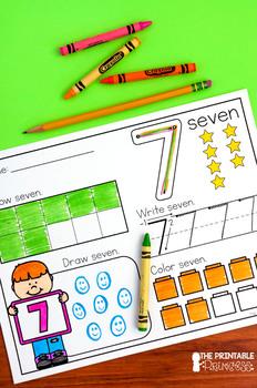 Kindergarten Math: Number Sense for Numbers 1-20 NO PREP BUNDLE