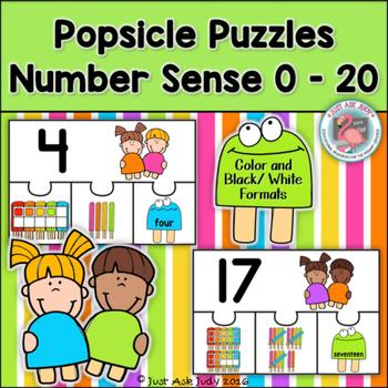 Number Sense 0-20 Popsicle Puzzles