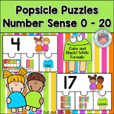 Number Sense 0-20 Popsicle Puzzles