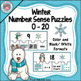 Number Sense 0-20 Winter Puzzles