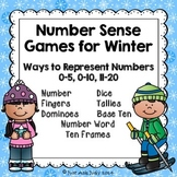 Number Sense Games Winter 0-5, 0-10, 11-20