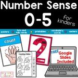 Number Sense 0-5 Math Centers, Printable and Bonus GOOGLE