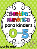 Number Sense, Numbers 0-5, Counting, Math Centers, in SPANISH