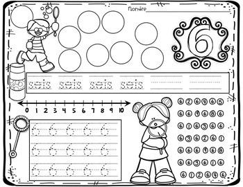 Number Sense 0-9 (Spanish)