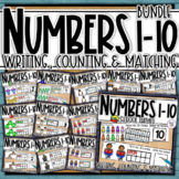 Number Sense 1-10 - BUNDLE - counting, matching, reading & writing numbers 1-10