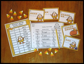 Number Sense Activity 1-10 Candy Corn Critters