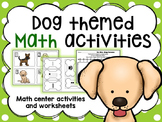 Math Center Activities for numbers within 0 - 10 Dog themed