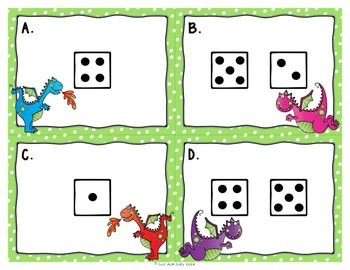 Number Sense Activity 1-10 Dragons and Dice